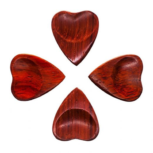 Heart Tones Padauk 4 Guitar Picks